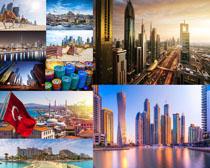 高楼城市风景拍摄高清图片