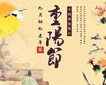 重阳节促销海报设计矢量素材