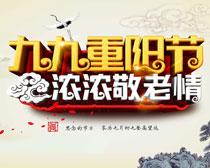 九九重阳节敬老情海报设计PSD素材