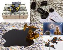 石油货币金融摄影高清图片