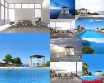 海边休闲环境风景摄影高清图片