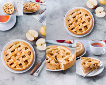 早餐水果面饼摄影高清图片