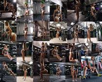 健身房欧美美女拍摄高清图片