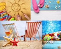 沙滩休闲景观摄影高清图片