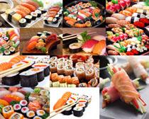 三文鱼寿司摄影高清图片