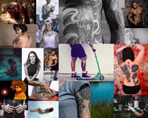 个性欧美纹身人物摄影高清图片