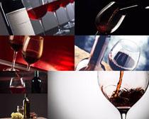 红酒与杯子摄影高清图片