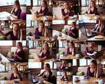 咖啡厅休闲美女摄影高清图片