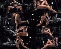 健身性感女人摄影高清图片