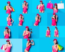 游泳衣美女摄影高清图片