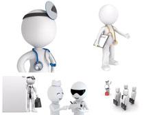 3D小人医生摄影高清图片