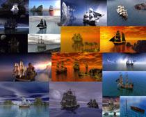 海上帆船摄影高清图片