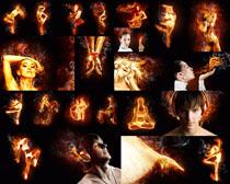 火焰人物效果摄影高清图片