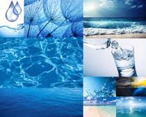 蓝天海与水摄影高清图片