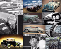 老式汽车怀旧摄影高清图片
