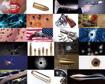 子彈槍支攝影高清圖片