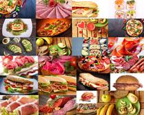 水果汉堡包披萨摄影高清图片