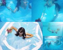 水中的美女拍摄高清图片