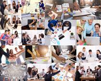 讨论会议职业人物摄影高清图片