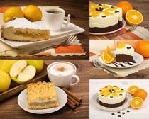 早餐蛋糕橙子摄影高清图片