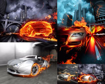 火焰动感汽车摄影高清图片
