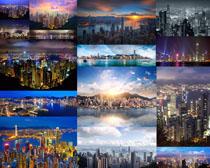 夜景城市风光拍摄高清图片
