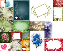 小花纹边框拍摄高清图片
