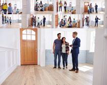 购房一家人摄影高清图片