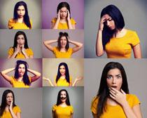 烦恼的女人摄影高清图片
