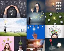 灯泡与职业人物摄影高清图片