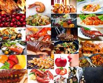 海鱼与水果拍摄高清图片
