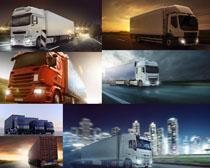 公路上的货车摄影高清图片
