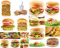 食物汉堡包摄影高清图片