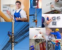 维修电技术工人摄影高清图片