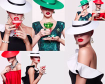 口红模特女子摄影高清图片