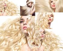 金发发型美女拍摄高清图片