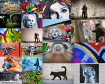 藝術涂鴉文化攝影高清圖片