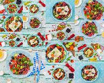 蔬菜沙拉展示拍摄高清图片