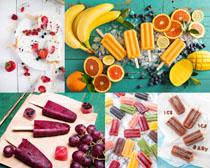 冰棒与水果摄影高清图片