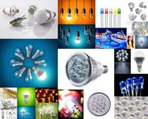 节能种类灯泡摄影高清图片