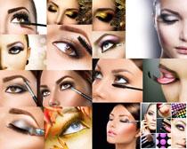 女性化妆眼晴摄影高清图片