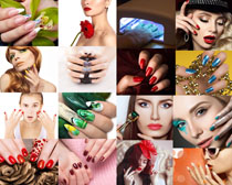 彩色指甲美女摄影高清图片