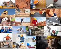 建房子工人摄影高清图片