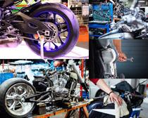 动感摩托车展示摄影高清图片