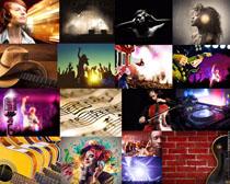 音乐人物与背景摄影高清图片