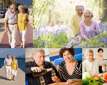 快乐开心老年人摄影高清图片