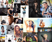 拿相机的人们摄影高清图片