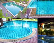 游泳池场地摄影高清图片