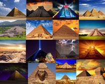沙漠金字塔建筑攝影高清圖片