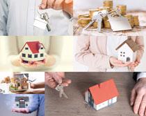 金融房屋模型摄影高清图片